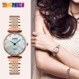 Beli 2017 Baru Fashion Wanita Quartz Watches Girls Jam Tangan Kasual Rhinestones Tahan Air Skmei Watch 1223 Rose Gold Shell Skmei Online