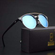 Diskon 2017 New Fashion Pria Wanita Sunglasses 4346 Hitam Frame Biru Lense Intl Bruno Dunn Di Tiongkok