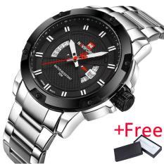 2017 Baru Naviforce Fashion Watch Jam Tangan Es Men Luxury Brand Full Stainless Steel Tanggal Olahraga Clock Men S Quartz Watch Jam Tangan Naviforce Diskon 50