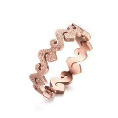 Toko 2017 Baru Kepribadian Fashion Womens Perhiasan Titanium Matte Rose Gold Ring Intl Oen Tiongkok