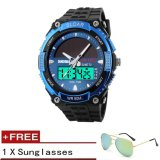 2017 Baru Relogio Energi Matahari Watch Pria Olahraga Watches Led Digital Quartz Militer Outdoor Dress Jam Jam Tangan Skmei Merek 1049 Gratis Sunglasses Hadiah Intl Promo Beli 1 Gratis 1