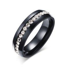 Spesifikasi 2017 Baru Satu Baris Diamond Perhiasan Hadiah Pearl Sand Titanium Baja Beberapa Cincin Fashion Hadiah Ulang Tahun Pernikahan Ring Intl Dan Harga