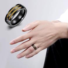 2017 Terbaru Eropa dan Amerika Busana Pria Ring Titanium Cincin Baja Pria Perhiasan-Internasional