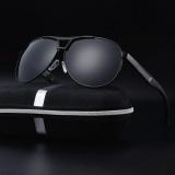 Harga 2017 Pria Terpolarisasi Retro Outdoor Aviator Sunglasses Mengemudi Kacamata Eyewear Oem Asli