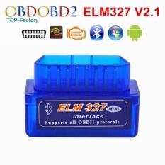 2017 Super Mini ELM327 Bluetooth V2.1 OBD2 Mobil Alat Diagnostik MINI ELM 327 Bluetooth untuk Android/Symbian untuk OBDII protokol-Intl