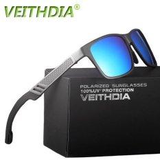 2017 VEITHDIA Original Brand Logo HD Aluminium Magnesium Pria Cermin Kacamata Mengemudi Kacamata Oculos De Sol Polarized Sunglasses Vpa6560-Intl