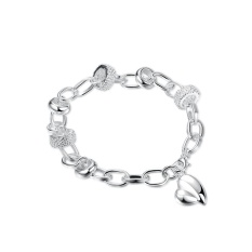 2017 Women Classy Design silver plated bracelet Bracelet fashion bracelet Charm Bracelet cicret bracelet for Women Smart bracelet - intl
