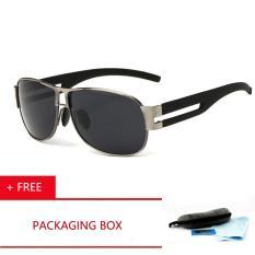 2017 Aoron Fashion Designer Sunglasses Membangkitkan Amplifier Merek Pria Gogel Mengemudi Coating Polarized Sunglasses Kacamata Kacamata Hitam [Beli 1 Mendapatkan 1 Freebie]