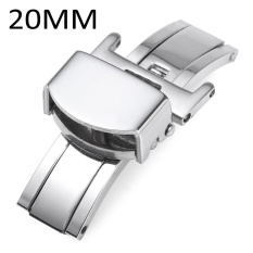 Obral 20Mm Stainless Steel Deployment Butterfly Clasp Watch Gesper Internasional Murah
