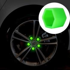 20 Pcs 21mm Silicone Car Wheel Hub Screw Nut Dekorasi Cap Cover Green Car Styling Baut Pelindung-Intl By Lovestory Store.