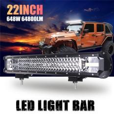 22 Inch LED Lampu Kerja Bar Spotlight Lampu Banjir Combo Mobil Lampu 162 W Mengemudi Lampu Car Truck Offroad Fog Lampu IP68 DC10-30V-Intl
