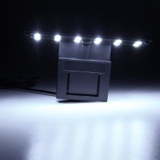 220 V 12 Led Aquarium Light Clip On Plant Grow Tangki Ikan Pencahayaan Lampu Ultra Tipis Putih Intl Tiongkok