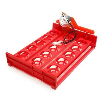 Pencarian Termurah 220 V 15 Ayam Turner Telur Otomatis Puyuh Burung Inkubator Penetas Telur Tray Merah