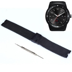 22mm Luxury Stainless Steel Watch Band For LG G Smart Watch+Tool Black - intl