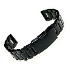 Harga 22Mm Stainless Steel Gelang Watch Band Ujung Lurus Tali Solid Links Intl Original