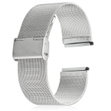 Cuci Gudang 22Mm Stainless Steel Mesh Bracelet Watch Band Replacement Strap For Men Women Intl