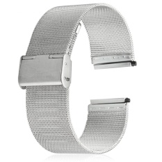 Harga 22Mm Stainless Steel Mesh Bracelet Watch Band Replacement Strap For Men Women Intl Not Specified Tiongkok