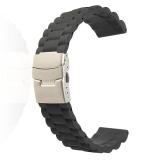Toko 22 Mm Uhrenband Uhren Ban Lengan Faltschlie E Silikon Kautschuk Jeruk Schwarz Yang Bisa Kredit