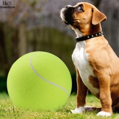 Jual 24 Cm Big Giant Tanda Tangan Bola Tenis Inflatable Pet Tennis Ball Pelempar Chucker Launcher Play Toys Intl