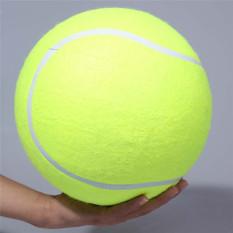 24 cm bola tenis untuk mengunyah mainan balon besar Pet Mega persediaan mainan bola tenis luar ruangan