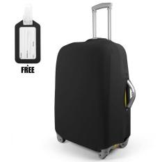 Harga 24 Inch Polyester Spandex Luggage Koper Penutup Pelindung Case Dustproof Aman Lengan Elastis Hitam Intl Yang Murah