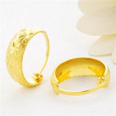 24 K Berlapis Anting Tidak Endapan Emas Perhiasan Emas