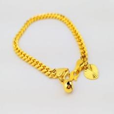 24 K Emas Korea Berkualitas Tinggi Berlapis Premium Gelang Bangle (RT001) Hadiah untuk Wanita Wanita Fashion Perhiasan Gaya Korea Tahan Lama-Intl