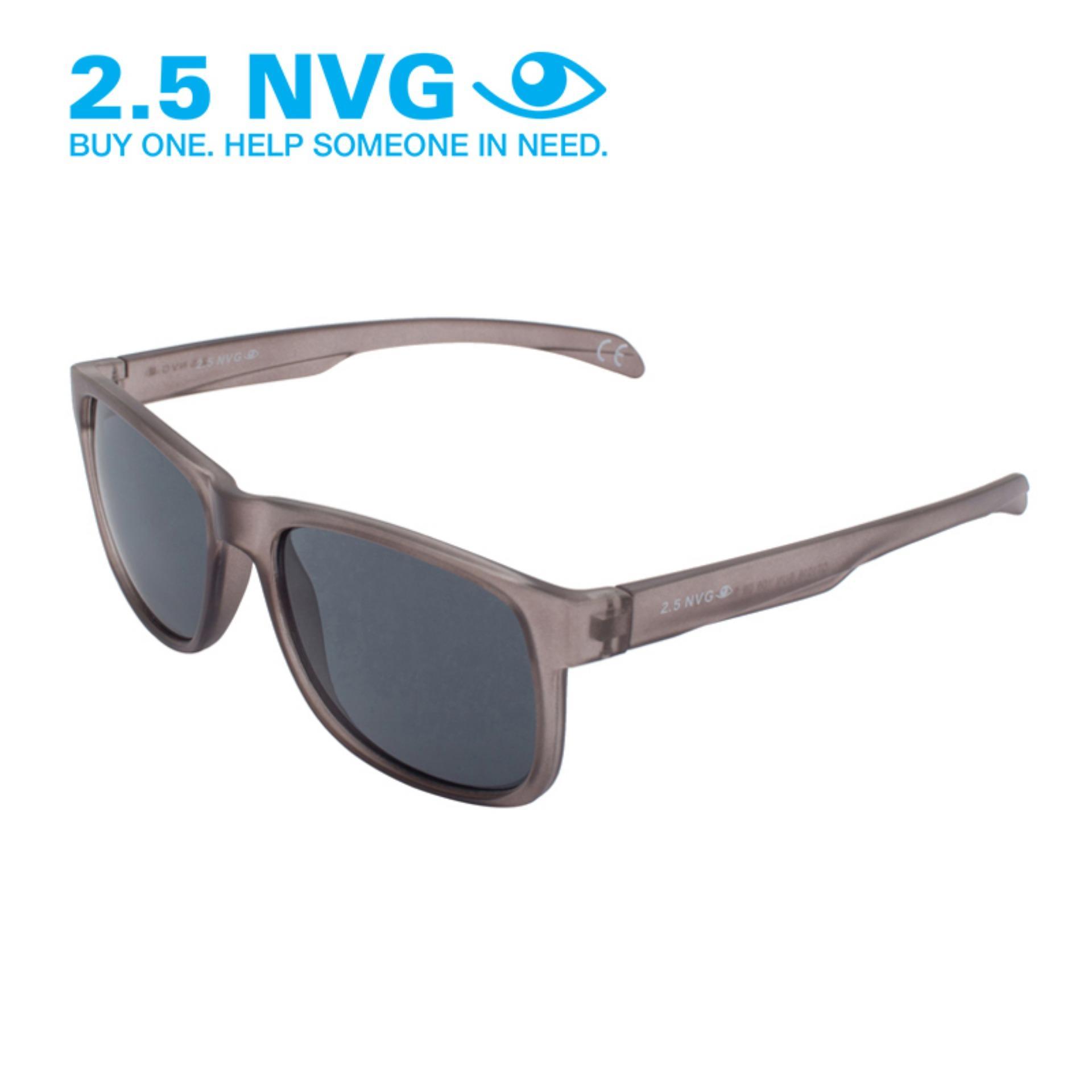 Jual Beli 2 5 Nvg Kacamata Pria Cokelat Persegi Panjang Proteksi Uv 400 Lensa Hitam Sun 105 08