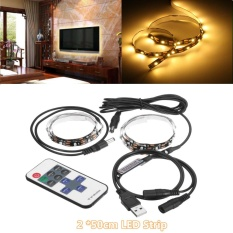 Review Toko 2 50 Cm Rgb Komputer Tv Lcd Led Latar Belakang Strip Light Remote Control Usb Powered Warm White Intl Online