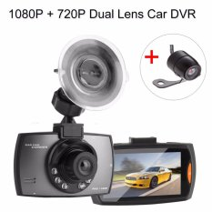 2.7 Inch Mobil DVR dengan HDMI/AV-In DVR Video Recorder Dash Cam Dual Lens Camera DVR 1080 P + 720 P-Intl