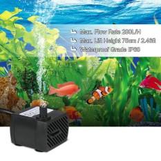 280L/H 4 W Submersible Pompa Air untuk Aquarium Meja Air Mancur Kolam Taman Air dan Sistem Hidroponik dengan Satu Nozzle 4.9ft (1.5 M) Kabel Daya AC220-240V-Intl