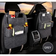 283 Car seat organizer Barang Tas Gantungan Kursi Mobil Multifungsi dipasang di Belakang Jok - Dark Grey