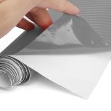 Jual Beli 2 M X 60 Cm Diseduh Sendiri 3D Vinyl Serat Karbon Bungkus Gulungan Film Stiker Mobil Dekorasi Rumah Abu Abu Baru Tiongkok