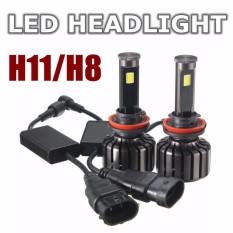 2 pasang H11/H8 120 watt 10000 lumen CREE LED lampu Hi/Lo Kit sinar 6000 KB- internasional