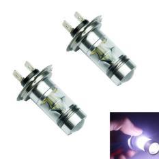 Harga 2Pc H7 6000K 100W Led 20 Smd Cree Projector Fog Driving Drl Light Bulbs Hid Intl Fullset Murah