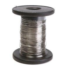 2 pcs 100FT 304 Stainless Steel Kawat Tunggal yg Keras Tali 0.4mm