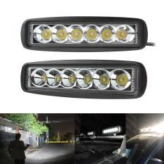 Beam-Floodlight 2x18 Watt 6 CREE Memimpin Cahaya Bar/tempat Kerja Banjir Mobil SUV Off Road Mengemudi Kapal Lampu (Lampu Sorot)