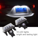 Diskon 2 Pcs 18Led Mobil Auto License Plate Cahaya Terang For Toyota Yaris 2012 Camry 2013 Tiongkok