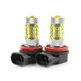 Ulasan Tentang 2 Pcs 3000 K Kuning Lampu Kabut Mengemudi Bulbs Drl H11 H8 80 W Proyektor Lampu Intl