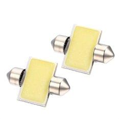 2 Pcs 31mm 12 V COB 3 W LED Cahaya Interior untuk Review Mobil Dome Bulb
