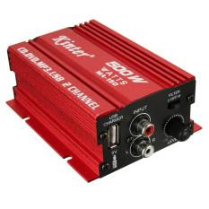 2 Pcs 500 W 12 V Mini Stereo Penguat Hi-fi Penguat Audio untuk Mobil Bekas Sepeda Motor Otomotif Radio MP3