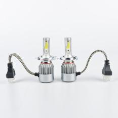 2 Pcs Lampu Depan Mobil 7600 LM Bohlam LED H4 6000K Lampu Kabut Putih C6 Sinar Rendah