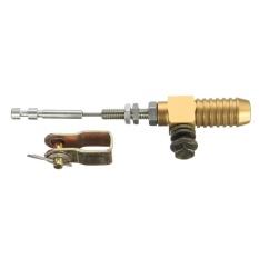 2 Pcs Aluminium M10x1.25mm Motor Hidrolik Kopling Silinder Batang Brake Pump Emas-Intl