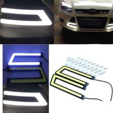 Jual 2 Pcs Auto Mobil Kendaraan Ice Blue Cob Led Drl Fog Light Waterproof U Bentuk Grosir
