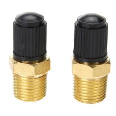 2 Pcs Kuningan Tire Tire Air Compressor Tank Mengisi Katup Untuk Katup Dunlop (kuning) -1/8in-Intl By Crystalawaking.