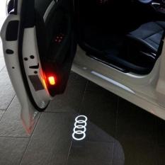 2 Pcs Mobil Lampu Hias LED Courtesy Pintu Proyektor Light Ghost Shadow Light untuk AUDI A1 A3 A4 A6 A5 A7 A8 80 TT Q3 Q5 Q7 RS-Intl