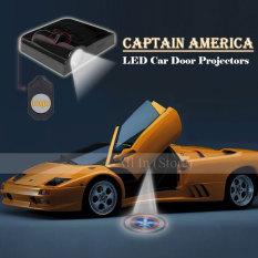 Jual 2 Buah Lampu Proyektor Pintu Mobil Selamat Datang Gambaran Mengenai Kapten Amerika Tidak Ada Stripes Merah Terisolasi Putih Yang Diperlukan Oem Murah