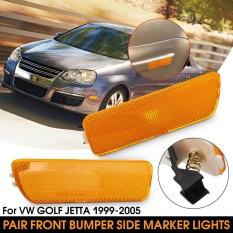 Jual 2 Pcs Mobil Depan Bumper Side Marker Lampu Indikator Lampu Sinyal Turn Tanpa Bulb Untuk Vw Golf Jetta 99 05 Intl Import