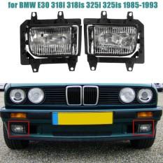 2 Pcs Crystal Clear Lens Cover Depan Bumper Fog Light Lampu Rumah untuk BMW E30 318i 318is 325i 325is 325e 325es 325iX-Intl