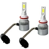 Jual 2 Pcs High Power Led Bohlam Lampu Mobil Lampu 6000 K Cree Cob Led Universal Aplikasi Warna H11 H9 H8 Intl Antik